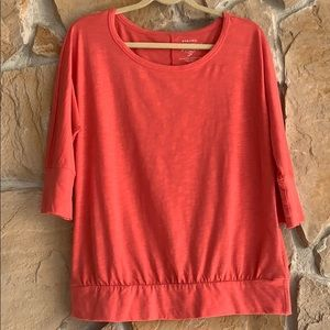 Sonoma Salmon Color Short Sleeve Top